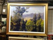 Sale 8906 - Lot 2029 - Joe Odnis Reflections Autumnoil on board, signed -