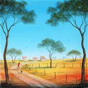 Sale 8947 - Lot 576 - Kym Hart (1965 - ) - Road Home 31 x 31 cm (total: 31 x 31 x 4 cm)