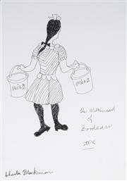 Sale 8976A - Lot 5032 - Charles Blackman (1928 - 2018) - The Milkmaid of Bordeaux, 2008 41.5 x 29 cm (frame: 71 x 58 x 4 cm)