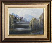 Sale 9058 - Lot 2031 - Alan Grosvenor (1925 - 2012 ) - Lake Jindabyne, Snowy Mountains 21.5 x 29.5 cm (frame: 36 x 44 x 4 cm)