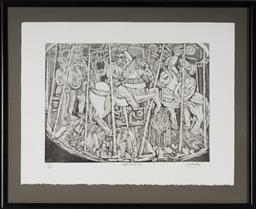 Sale 9099A - Lot 5013 - Salvatore Zofrea (1946 - ) - The Psalm 54 45 x 61 cm (frame: 78 x 96 x 4 cm)