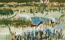 Sale 9125 - Lot 539 - John Olsen (1928 - ) Townsville Common, 1972 watercolour and gouache 16.5 x 26 cm signed and dated lower right