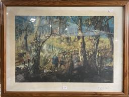 Sale 9139 - Lot 2087 - Hugh Sawrey Muster, photolithograph, ed 136/850 (AF), frame: 59 x 78 cm, signed lower right -