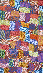 Sale 8575 - Lot 579 - Betty Mbitjana (1955 - ) - Bush Melon - Awelye 166 x 98cm