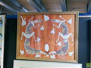 Sale 8582 - Lot 2049 - Indigenous Art Crocodiles, Acrylic on Canvas