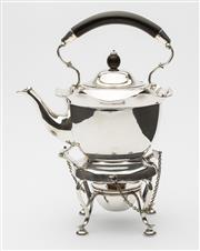 Sale 8620A - Lot 58 - An excellent quality John Sherwood silverplate afternoon tea kettle on stand with burner, Sheffield c. 1890s, H 27cm
