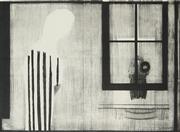 Sale 8722 - Lot 506 - Charles Blackman (1928 - 2018) - Untitled (Figure in Interior Scene) 57 x 79cm