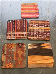 Sale 8893 - Lot 1070 - Collection of Five Persian Kilim Cushion Covers (40 x 40cm)