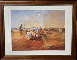 Sale 9139 - Lot 2084 - Hugh Sawrey Autumn Branding, photolithograph, ed. 1123/1500, frame: 76 x 98 cm, signed lower right -