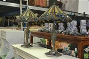 Sale 8440 - Lot 1087 - Pair of Leadlight Table Lamps