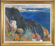 Sale 8459 - Lot 585 - Finn Neilssen (1908 - 1962) - Summer Landscape 80 x 100cm