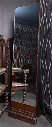 Sale 8761A - Lot 75 - A cheval mirror in the deco taste, H x 160cm, W x 44cm