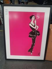 Sale 8816 - Lot 2086 - Framed Print Of Fashion Model