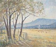 Sale 8838A - Lot 5118 - Dorothea (Dora) Elizabeth Toovey (1898 - 1986) - Nandewar Range, 1974 37 x 45cm