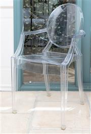 Sale 8866H - Lot 23 - A set of four Phillipe Starck Ghost Louis Chairs for Kartell, Height of back 94cm