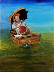 Sale 9011 - Lot 2073 - Greg Lipman (1938 - ) - Dreaming 122 x 91 cm (total: 122 x 91 x 4 cm)
