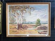 Sale 9041 - Lot 2085 - Dodie Warner Country NSW oil on board, Frame: 53 x 68 cm, signed lower left