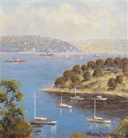 Sale 9055A - Lot 5075 - Werner Filipich (1943 - ) - Taylors Bay, Sydney Harbour 18.5 x 18 cm (frame: 36 x 36 x 3 cm)