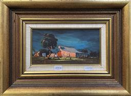Sale 9111 - Lot 2004 - Rex Newell Country Cottages, 1974, oil on board, frame: 38 x 38 cm, signed and dated lower left