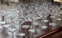 Sale 9155H - Lot 42 - A suite of Orrefors comprising 12 goblets and 8 cherry glasses.