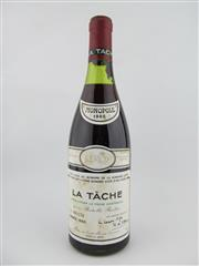 Sale 8397 - Lot 509 - 1x 1985 Domaine de la Romanee-Conti, La Tache - level at 3cm below cork, damaged capsule