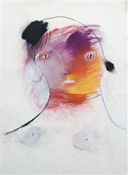 Sale 8410A - Lot 5016 - Anne Hall (1945 - ) - Untitled (Female with White Tinted Lips) 76.5 x 56cm (sheet size)