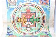 Sale 8739C - Lot 60 - Large Tibetan Thanka 135cm x 105cm