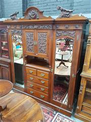 Sale 8831 - Lot 1066 - Late Victorian Mahogany Wardrobe