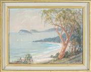 Sale 8838A - Lot 5119 - Dorothea (Dora) Elizabeth Toovey (1898 - 1986) - Entrance to the Hawksbury River from Pearl Bay Heights, 1976 29 x 39.5cm