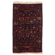 Sale 8914C - Lot 25 - Afghan Rare & Fine Pictorial War Rug from the Private Collection of the Cadry Family, 180x110cm, Handspun Wool
