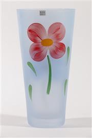 Sale 9003G - Lot 608 - A Boda Design Hand Painted Glass Vase (H 25cm)