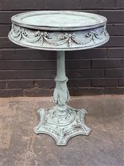 Sale 9026 - Lot 1011 - French Style Single Pedestal Wine Table (h:72 x d:47cm)