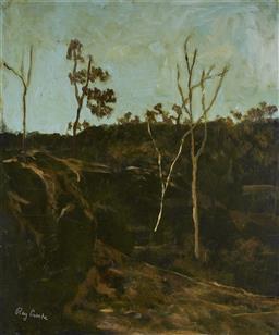 Sale 9081A - Lot 5055 - Ray Crooke (1922 - 2015) - Rural Landscape 58 x 49 cm (frame 80 x 70 x 3 cm)
