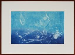 Sale 9130S - Lot 38 - Frank Hodgkinson (1919 - 2001) - Reef, 1997 50 x 81 cm (frame: 85 x 116 x 4 cm)