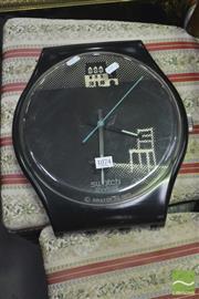 Sale 8398 - Lot 1074 - Swiss Swatch Wall Clock (1989)