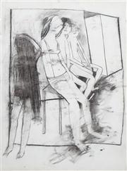 Sale 8410A - Lot 5017 - Anne Hall (1945 - ) - Untitled (Four Models) 76.5 x 56.5cm (sheet size)