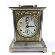 Sale 8649R - Lot 83 - Kienzle German Metal Mantle Clock (H: 15.5cm)