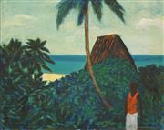 Sale 8675 - Lot 546 - Ray Crooke (1922 - 2015) - Fijian Landscape 50 x 39cm
