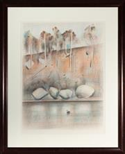 Sale 9080J - Lot 83 - JAMIE BOYD (1948 - ) - Swan on the Shoalhaven signed lower right