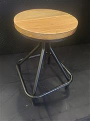 Sale 8962 - Lot 1046 - Set of Four Black Adjustable Stools with Square Bottoms (H: 77/ 51, D: 30cm)