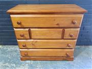 Sale 8979 - Lot 1043 - Modern Timber Chest of Six Drawers (h:100 x w:105 x d:44cm)