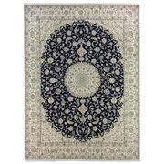 Sale 9082C - Lot 52 - Finely Woven, Persian Nain, Silk Inlaid, 295x400cm.