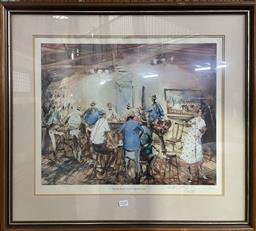 Sale 9139 - Lot 2086 - Hugh Sawrey The Bar, Hotel Yeppoon, Queensland, photolithograph, ed. 84/850 cm, 65 x 73 cm, signed -