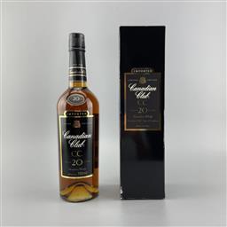 Sale 9250W - Lot 751 - Canadian Club CC 20YO Canadian Whisky - 40% ABV, 750ml in box