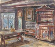 Sale 8459 - Lot 587 - Eva Tornqvist (XX) - Interior Scene, 1943 61 x 72cm