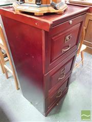 Sale 8455 - Lot 1084 - Timber Office 3 Drawer Filer
