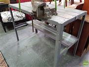 Sale 8542 - Lot 1086 - Wood & Metal Work Bench with Vice