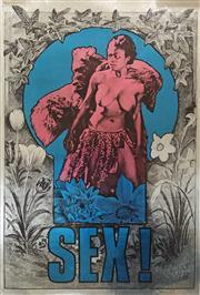 Sale 8607A - Lot 5012 - Martin Sharp (1942 - 2013) - Sex! 1967 72.5 x 49cm