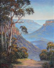 Sale 8947 - Lot 501 - John Bradley (1945 - ) - Jamieson Valley Vista 49 x 39 cm (frame: 56 x 66 x 5 cm)