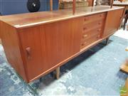 Sale 8451 - Lot 1048 - Quality Clausen Danish teak sideboard